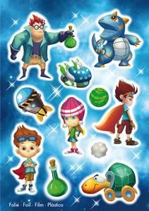 Bilde av MAGIC Stickers Superhelter, folie, 1 ark (10