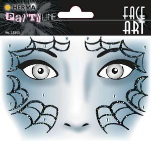 Bilde av FACE ART Sticker Spider til ansiktet, 1 ark (5
