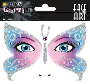 Bilde av FACE ART Sticker Butterfly til ansiktet, 1 ark (5