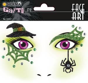 Bilde av FACE ART Sticker Witch til ansiktet, 1 ark (5