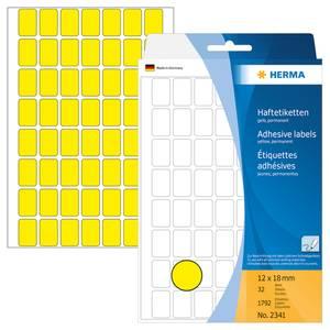 Bilde av HERMA fargede etiketter, gul 12x18 mm (1792 stk)