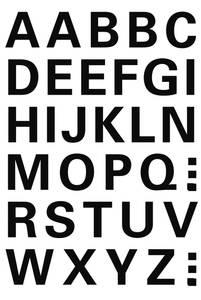 Bilde av VARIO bokstaver 15 mm, A-Z, svart 1 ark (10 pakk)