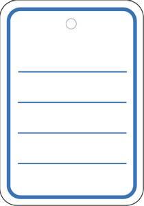 Bilde av Hengeetiketter i hvit papp, linjer og malje 42x60