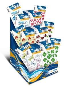 Bilde av Display Lykke til, DECOR Stickers 6 motiver, 60