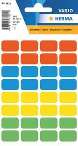 Bilde av VARIO fargede etiketter 12x19 (160 stk) 10 pakk