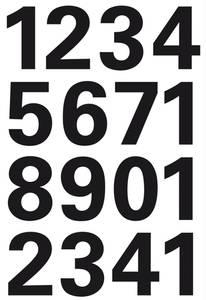 Bilde av VARIO talletiketter 25 mm, 0-9, svart 1 ark (10