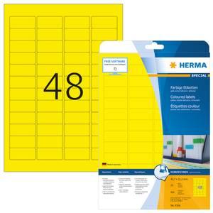 Bilde av SPECIAL fargede etiketter 20 ark, 45.7x21.2 gul