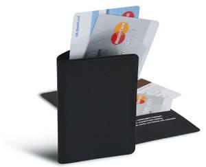 Bilde av RFID lomme for to kredittkort, svart, 1 stk