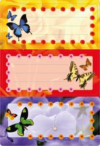 Bilde av VARIO boketiketter Sommerfugler med glitter, 2