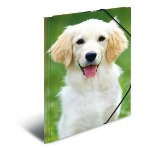 Bilde av HERMA strikkmappe i plastmateriale, A3, Dyr, Hund