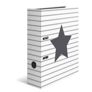 Bilde av Ringperm i kartong, A4, Stars Hvit med striper