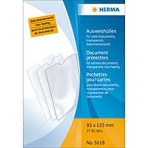 Bilde av HERMA plastlommer i klar plast 85x125 mm (25 stk)